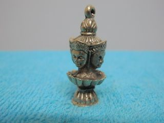 Pendant Brahma (4 Face) Creator Hindu Prosperity Lucky Charm Thai Amulet photo