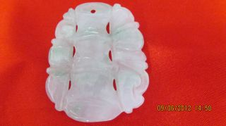 New Style White Hollow Chinese Jade Pendant/necklace Caved Design Handcrafted photo