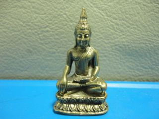 Holy Buddha Wealth Rich Lucky Charm Thai Amulet photo