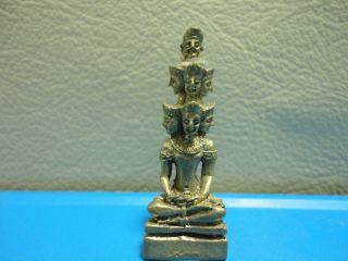 Trimurti Absolute Love Luck Unique Hindu Charm Thai Amulet photo