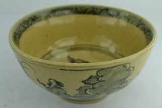 China Rare Collectible Old Handwork Porcelain Drawing Figure Wonderful Bowl photo