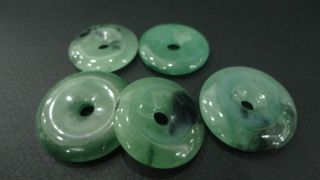 One Sall Chinese Jade Pendants / / Ping An Circle /5 Pieces photo