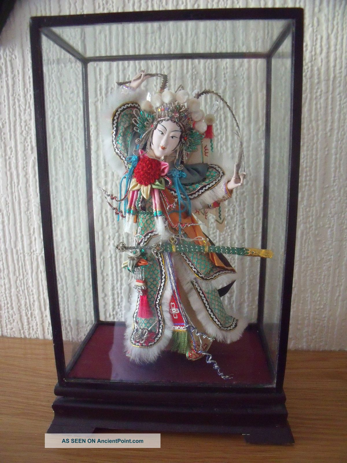Chinese Cased Doll In Traditional Dress Netsuke photo