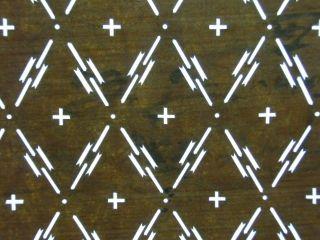Is356 Japanese Ise Katagami Kimono Stencil Pattern Print Diamond Cross Lattice photo