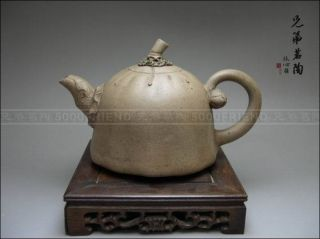 5000friend - Fascinating Yixing Zisha Pottery Old Lotus Teapot photo