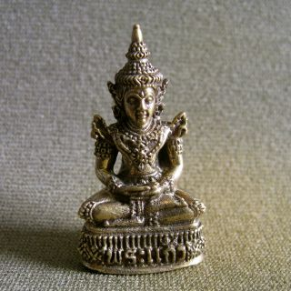 Phra Gaew Holy Buddha Good Luck Safety Charm Thai Amulet photo