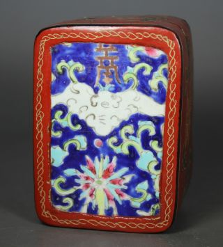 Chinese Handwork Painting Flower Old Lacquer Jewel Box photo