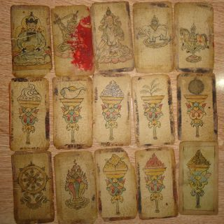 Mongolian Antique Buddhist Old Serial Paints 18 - 19 C (rare) photo