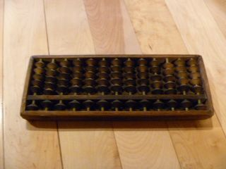 Japanese Antique Wood Abacus,  Verrrry Old Ancient Precision Calculator photo