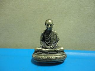 Lp Kasam Buddha Statue Good Luck Safe Charm Thai Amulet Pendant photo