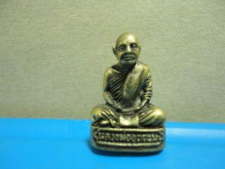 Lp Utama Buddha Statue Good Luck Safe Charm Thai Amulet Pendant photo