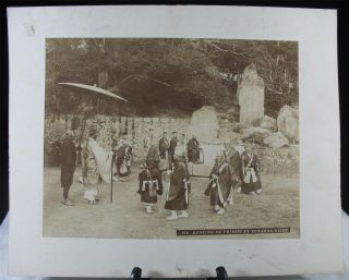 17 Large Antique 19th C.  Meiji Japanese Albumen Photographs 27cm X 21cm Ex Mats, photo