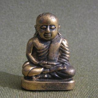 Holy Buddha Good Luck Safety Charm Thai Amulet photo