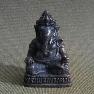 Elephant God Ganesha Ganesh Unique Hindu Thai Amulet photo