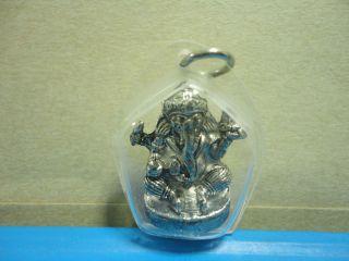 Lord Ganesh Hindu Bring Wealth Success Amulet Pendent photo