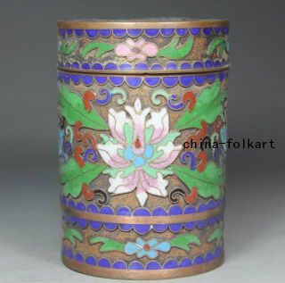Chinese Old Closionne Wonderful Handwork Flower Tobacco Jars photo