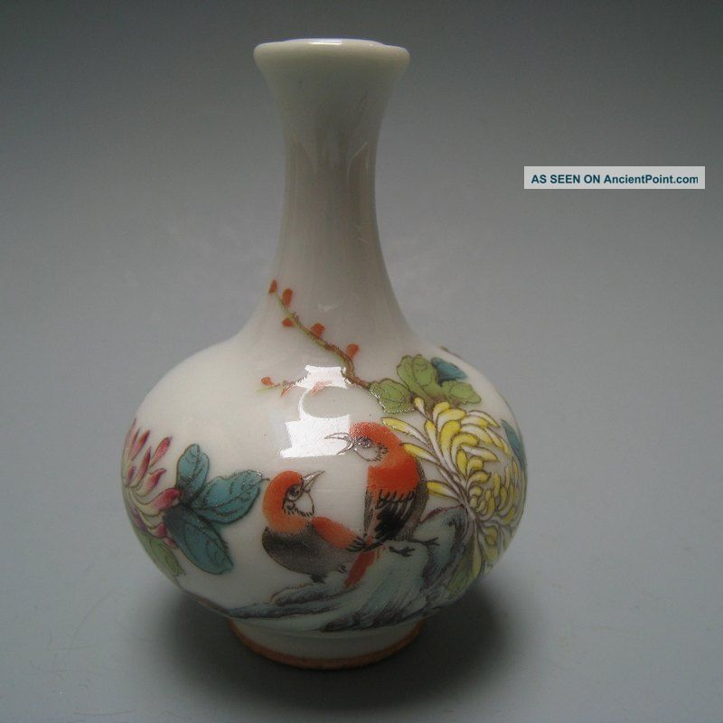 19 - 20 Century China Pastels,  Enamel Flowers And Birds Snuff Bottles Snuff Bottles photo