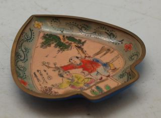 Chinese Copper Plate - Hand Painted & Enamelled - Oriental Children photo