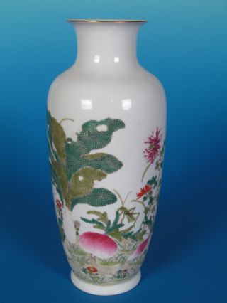 Chinese Pastel Color Porcelain Gilt Of Cabbage Vase photo