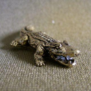 Tiny Powerful Crocodile Win Honor Respect Charm Thai Amulet photo