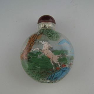 China In The Late Qing Dynasty Pentium Horse Snuff Bottle photo