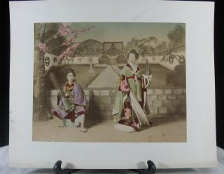 17 Large Antique 19th C.  Japanese Hand Tinted Albumen Photographs Adolfo Farsari photo