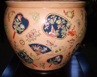 Hand - Painted Porcelain Fish Bowl photo