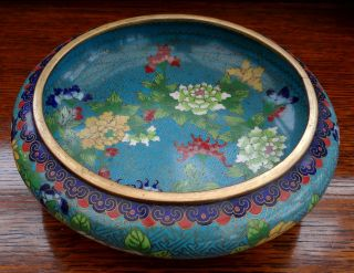 Antique Japanese Cloisonne Enamel Bowl 8