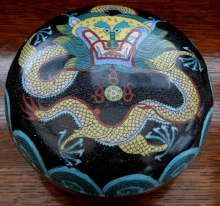 Antique Japanese Cloisonne Enamel Bowl Stunning 5 Toed Dragon 6