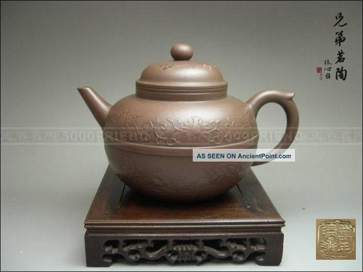 5000friend - Exquisite Yixing Zisha Pottery Old Teapot Teapots photo