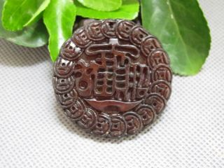 Chinese Folk Classical Jade Stone Carving Lucky Bless Fortuna Pendants 172 photo