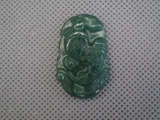 China Folk Classical Jade Carved Twelve Zodiac Chicken Lucky Pendants 064 photo