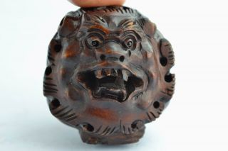❤ Orient Old Collectibles Handwork Delicate Boxwood Carving Dragon Netsuke ❤ photo