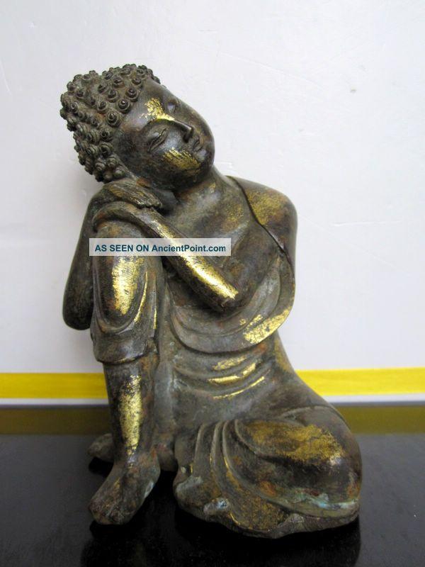 Tibetan Buddhist Shakyamuni Buddha Bronze Statue Buddha photo