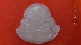 Chinese Jade Pendant Maitreya Buddha Best Festive Gift photo