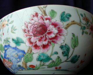 Huge Antique Chinese Famille Rose Porcelain Bowl photo