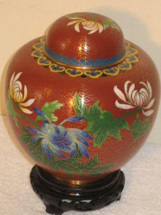 Antique Cloisonne Tea Caddies photo