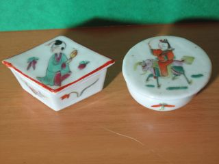 Chinese Export Porcelain Trinket Cases photo