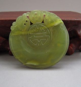 Chinese Sculpture Elegant Xiu Jade Pendant 183 photo