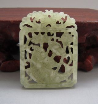 Chinese Sculpture Elegant Xiu Jade Pendant 186 photo