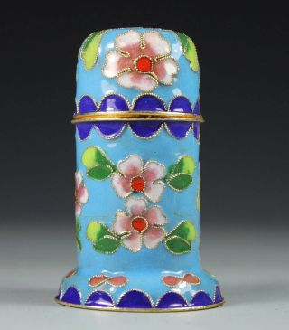 Chinese Handwork Cloisonne Flower Old Toothpick photo
