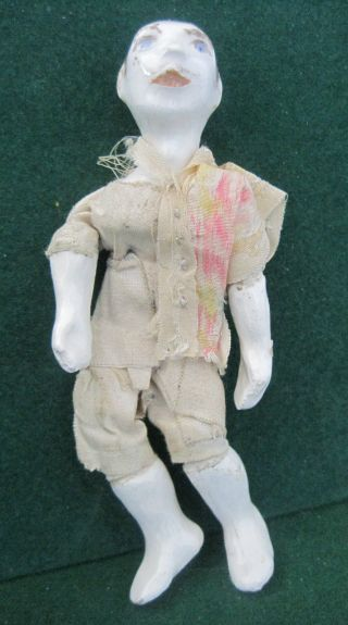 Oriental Porcelain Doll - Japanese - Clothes - 4 1/2 Inch - Articulated photo