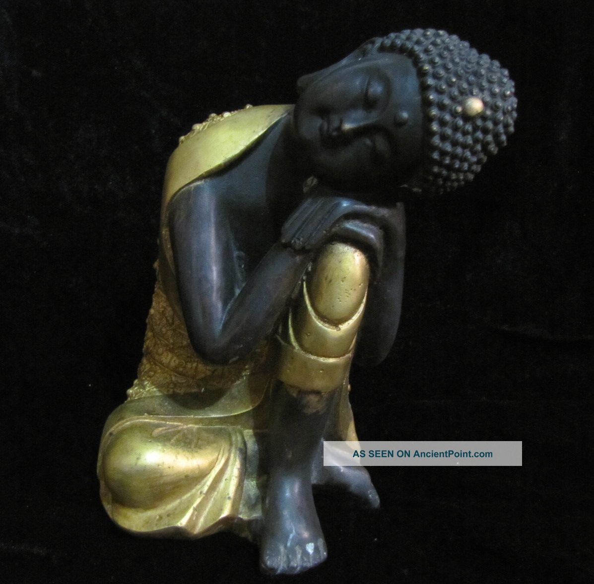 - - Collection Of Old Tibet - Sleep Copper Sakyamuni Buddha Buddha photo