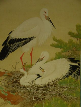 Hanging Scroll With Crane Design W - 28 photo