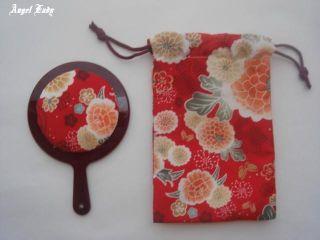 ' Kimono ' Mirror Of Portable Small Size,  With