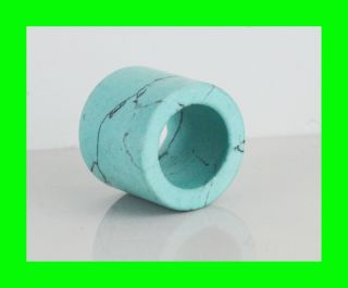 Festive Gift Asian Turquoise Stone Thumb Ring,  Green Color, photo