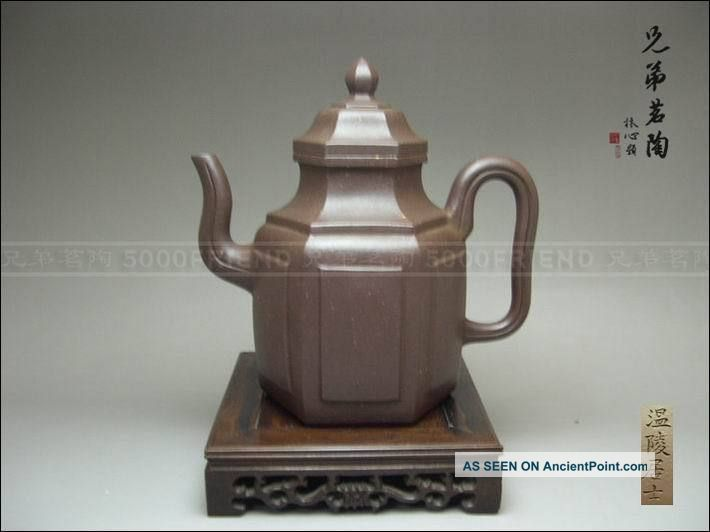 5000friend - Museum Quality Yixing Zisha Old Hexagonal Teapot Teapots photo