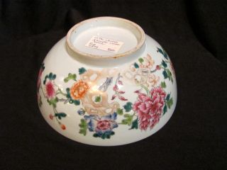 Antique Chinese Famille Rose Bowl 19th Century photo