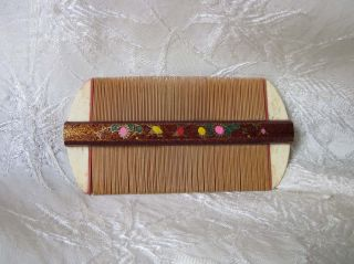 Lacquer Ox Bone Bamboo Comb Antique Chinese Ca: Early 1900 ' S photo