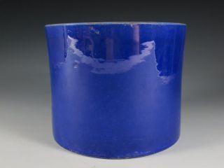 A Stunning Chinese Blue Porcelain Brush Pot photo
